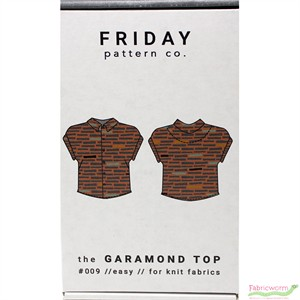 Friday Pattern Company, Sewing Pattern, Garamond Top