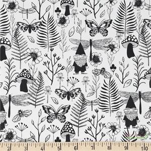 Sarah Watts for Cotton and Steel, Front Yard, Garden Black