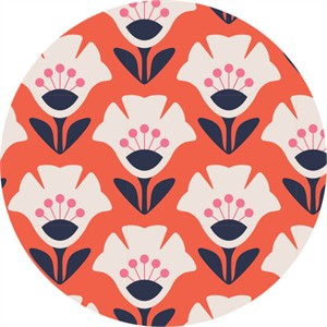 Jessica Jones for Cloud9, Holding Pattern, BARKCLOTH, Garden Variety Orange