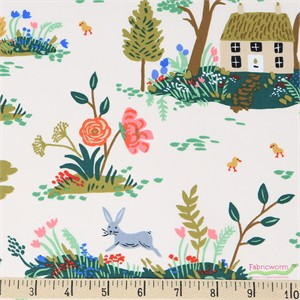 Rifle Paper Co. for Cotton and Steel, English Garden, Garden Toile Cream