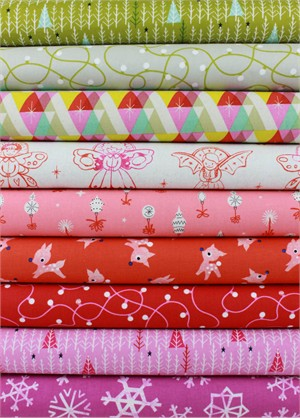Cotton and Steel, Garland, Sugar Plum in FAT QUARTERS 9 Total