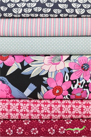 Fabricworm Custom Bundle, Gembrook Gardens in FAT QUARTERS 6 Total (PRECUT)