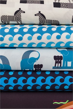Greg Mably for Robert Kaufman, Geo Zoo in FAT QUARTERS 5 Total