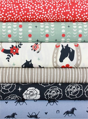 Fabricworm Custom Bundle, Giddy Up in FAT QUARTERS 6 Total