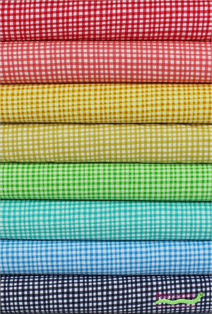 Michael Miller, Gingham Play in FAT QUARTERS 8 Total