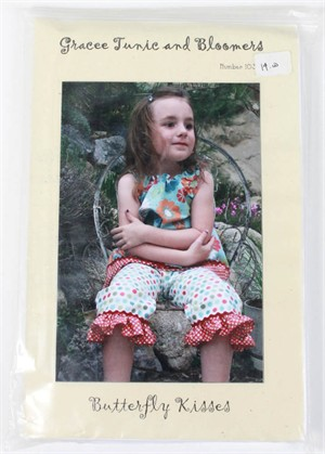 Butterfly Kisses, Sewing Pattern, Gracee Tunic and Bloomers