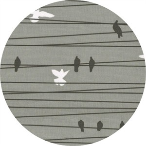 Latifah Saafir for Hoffman Fabrics, Grafic, Birds on a Wire Stone