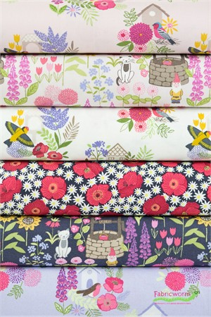 Lewis & Irene, Grandma's Garden in FAT QUARTERS 6 Total