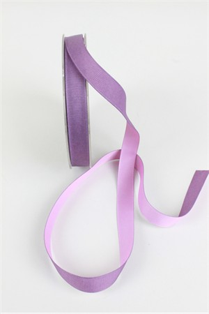 "Frou-Frou, 5/8"" Two Sided Gros-Grain Ribbon, Lavender/Pink"