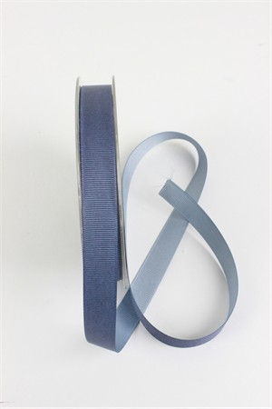 "Frou-Frou, 5/8"" Two Sided Gros-Grain Ribbon, Slate/Sky"