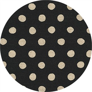 Sevenberry for Robert Kaufman, Natural Dots, CANVAS, Half Inch Dot Black