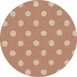 Sevenberry for Robert Kaufman, Natural Dots, CANVAS, Half Inch Dot Blush