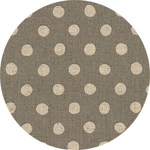 Sevenberry for Robert Kaufman, Natural Dots, CANVAS, Half Inch Dot Grey
