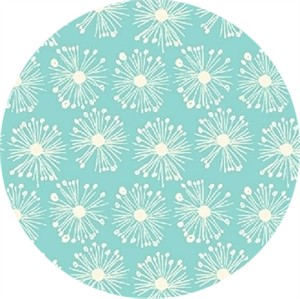 Windham Fabrics, ORGANIC, Hand Picked, Burst Aqua
