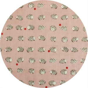 Japanese Import, DOUBLE GAUZE, Happy Hedgehogs Pink