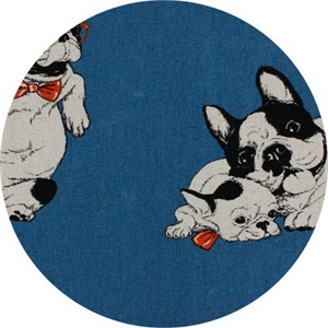 Cosmo Textiles, CANVAS, Happy Hounds Blue