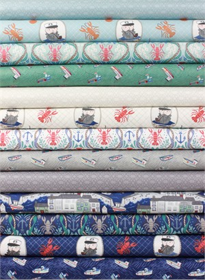 Lewis & Irene, Harbour Side in FAT QUARTERS 13 Total