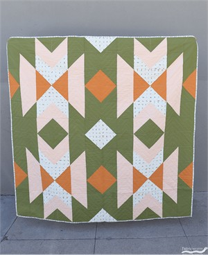 Harvest Blossom Country Quilt Kit Featuring Birch Organic Fabrics with Backing