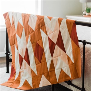 Harvest Blossom Metallic Sunset Quilt Kit Curated By Rachel Thomeczek