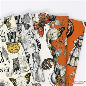 Fabricworm Custom Bundle, Haunted House in FAT QUARTERS 5 Total (PRECUT)
