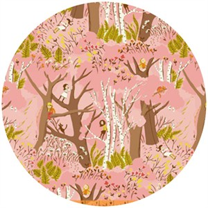 Heather Ross, Tiger Lily, Climbing Trees Pink