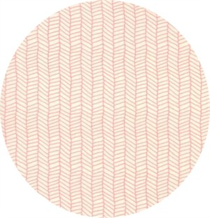 Lella Boutique for Moda, Sugar Pie, Herringbone White Pink