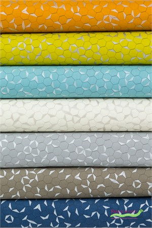 Jennifer Sampou for Robert Kaufman, Shimmer On, Hexagons in FAT QUARTERS 6 Total