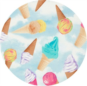 Timeless Treasures, Ice Cream Cones Sky