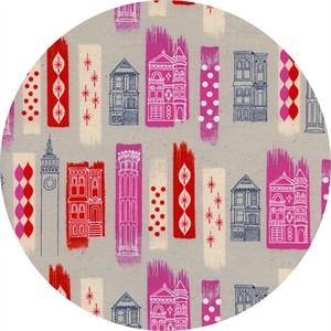 Melody Miller for Cotton and Steel, Jubilee, In The City Pink