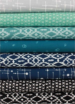 Hoffman Fabrics, Indah BATIKS, Island Breeze in FAT QUARTERS 8 Total
