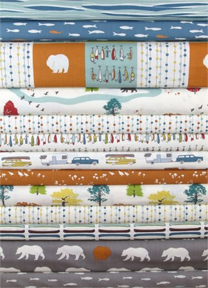 Jay-Cyn Designs for Birch Fabrics, Feather River in FAT QUARTERS 13 Total