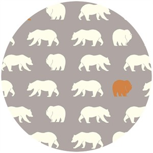 Jay-Cyn Designs for Birch Fabrics, Feather River, FLANNEL, Bear Hike Shroom