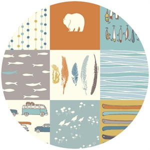 Jay-Cyn Designs for Birch Fabrics, Feather River, FLANNEL, Feather River Patch
