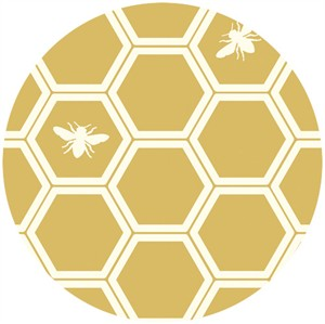 Jay-Cyn Designs for Birch Fabrics, The Grove, ORGANIC CANVAS, Honeycomb Sun
