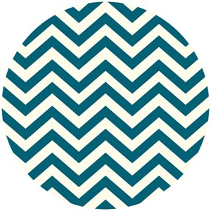 Jay-Cyn Designs for Birch Fabrics, Mod Basics 2, Organic, Skinny Chevron Teal