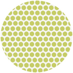Jay-Cyn Designs for Birch Fabrics, Mod Basics, Organic, Dottie Color Grass