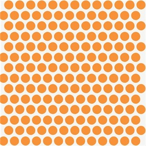 Jay-Cyn Designs for Birch Fabrics, Mod Basics, Organic, Dottie Color Orange