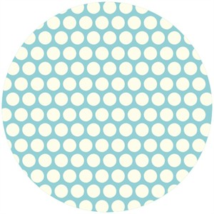 Jay-Cyn Designs for Birch Fabrics, Mod Basics, Organic, Dottie Cream Pool
