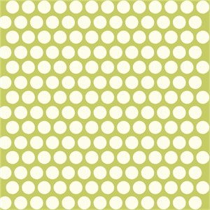 Jay-Cyn Designs for Birch Fabrics, Mod Basics, Organic, Dottie Cream Grass