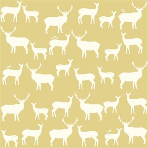 Jay-Cyn Designs for Birch Fabrics, Mod Basics 2, Organic, Elk Fam Sun