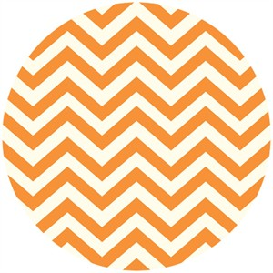 Jay-Cyn Designs for Birch Fabrics, Mod Basics 2, Organic, Skinny Chevron Orange