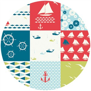 Jay-Cyn Designs for Birch Fabrics Organic, Set Sail, Cheater