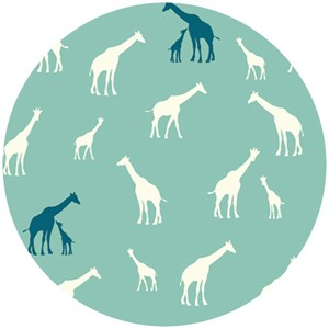 Jay-Cyn Designs for Birch Fabrics, Serengeti, KNIT, Giraffe Fam Pool