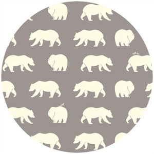 Jay-Cyn Designs for Birch Organic Fabrics, Bear Camp, CANVAS, Bear Hike Shroom