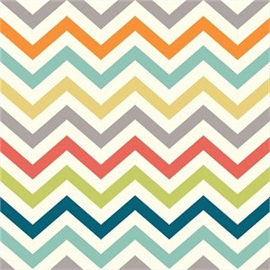 Jay-Cyn Designs for Birch Organic Fabrics, Just For Fun, KNIT, Skinny Chevron Multi