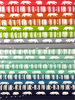 Jay-Cyn Designs for Birch Organic Fabrics, Bear Camp ENTIRE COLLECTION in FAT QUARTERS 16 Total(PRECUT)