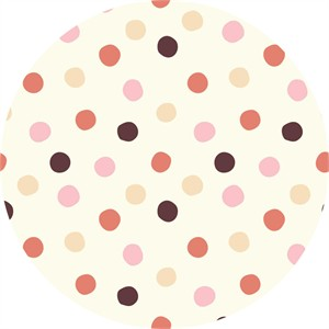 Birch Organic Fabrics, Mod Basics 3, KNIT, Pop Dots Girl