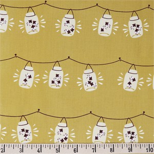 AVAILABLE FOR PREORDER, Teagan White for Birch Organic Fabrics, Best of Teagan White, Jars Gold