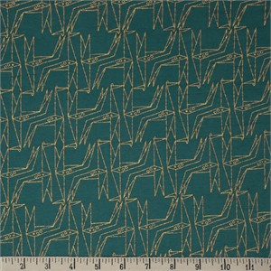 COMING SOON, Jay-Cyn Designs for Birch Organic Fabrics, Geogami, JERSEY KNIT, Geo Giraffe Teal Metallic