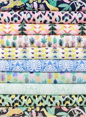 Josephine Kimberling for Blend, Tropical Paradise in FAT QUARTERS 10 Total